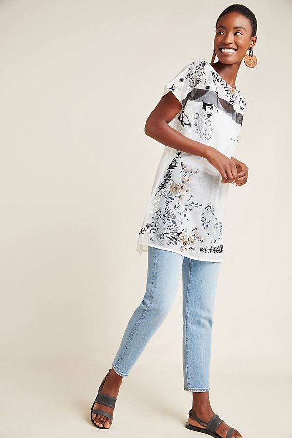 Slide View: 1: Bailey Embroidered Tunic