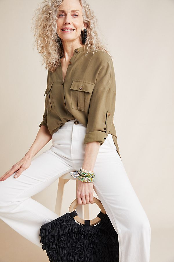 Slide View: 1: Belted Utility Tunic