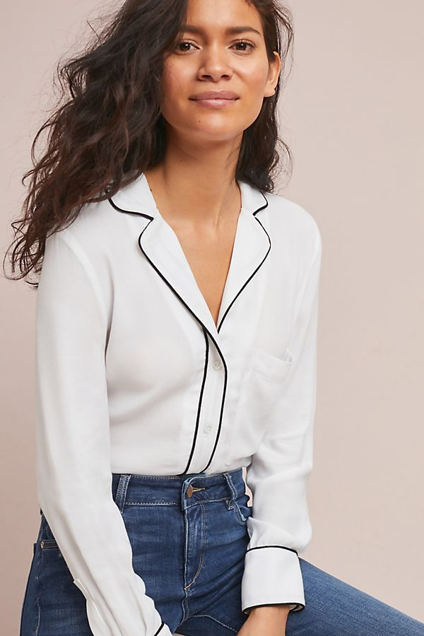 6543dd1cd937dc McGuire Rossi Pajama-Style Top | Anthropologie