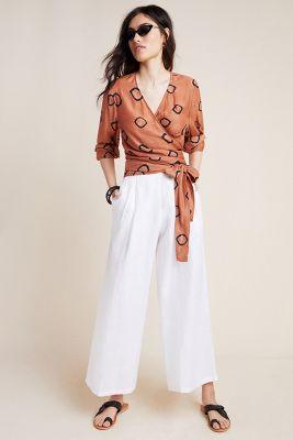Batik Wrap Blouse by Norblack Norwhite