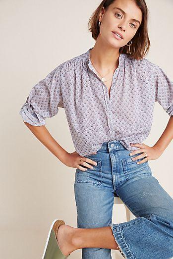 82c20b3c613ce6 Women's Button Down Shirts & Dress Shirts | Anthropologie