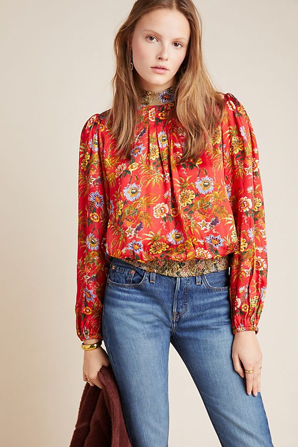 Slide View: 1: Toscana Peasant Blouse