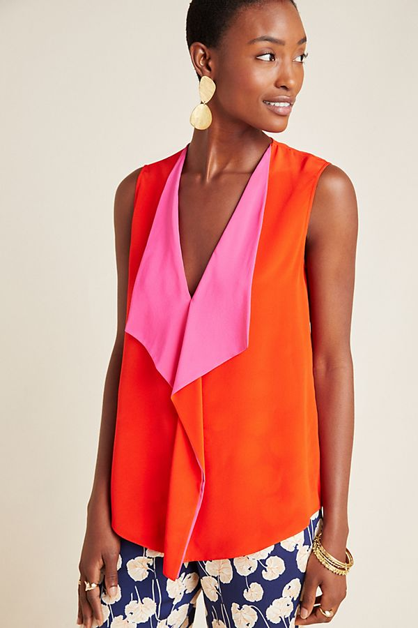 Slide View: 1: Diane von Furstenberg Isabel Silk Blouse