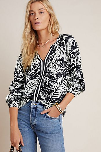Everleigh Tops Women/'s Size M High Low Sleeveless Scoop Sheer Striped Gray Black
