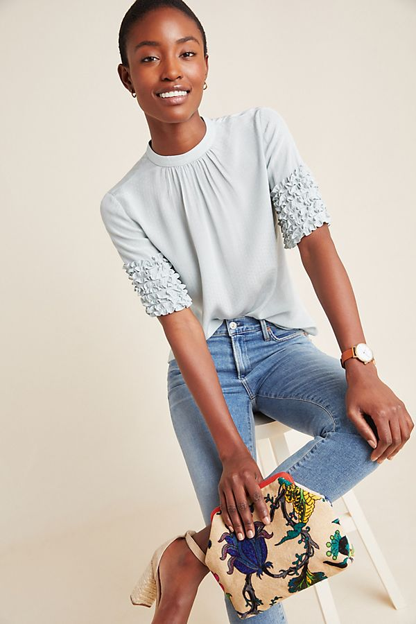 Slide View: 1: Jean Pintucked Blouse