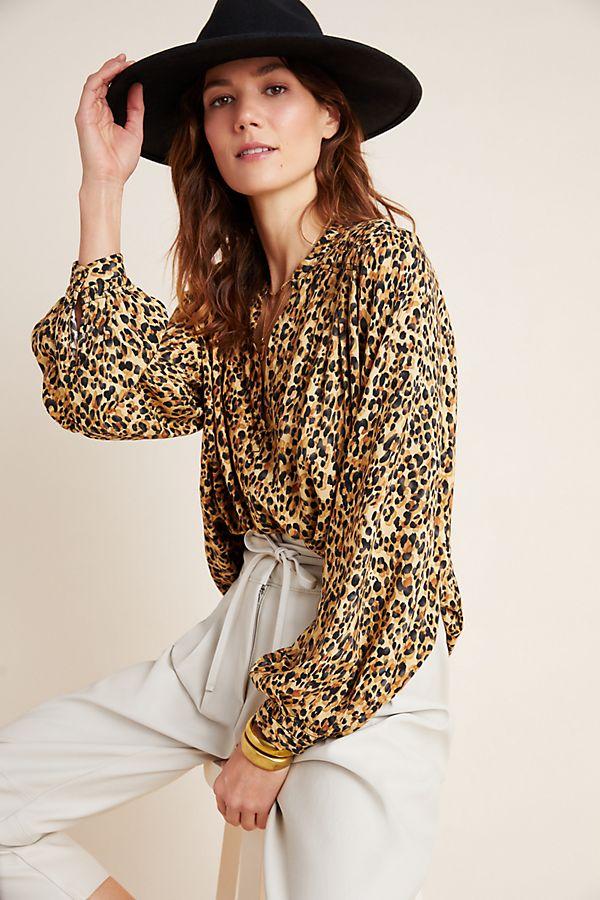 Slide View: 1: Marla Leopard Blouse
