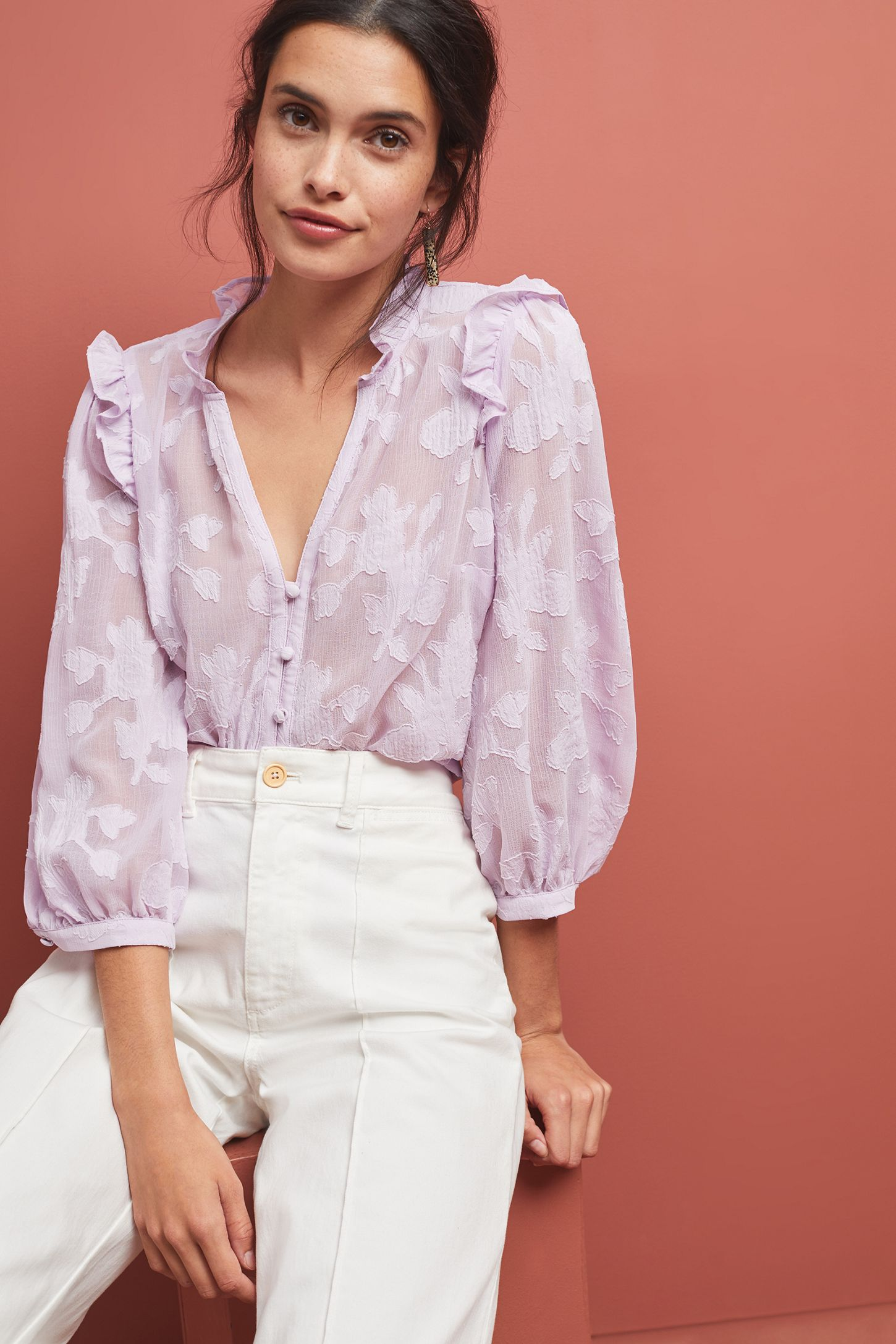 33c88b18 Mallory Lace Blouse | Anthropologie