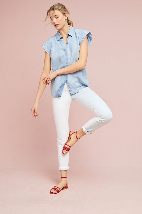 f196ae9a1d336 Michael Stars Striped Chambray Shirt | Anthropologie