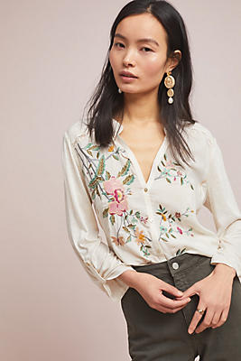 Slide View: 1: Eden Embroidered Top