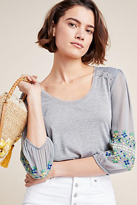 Slide View: 1: Julia Embroidered Top