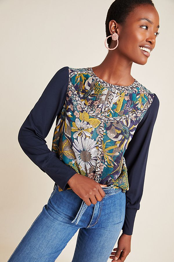 Slide View: 1: Wesley Floral Top