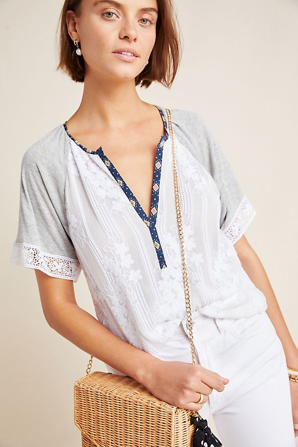 Slide View: 1: Dulcinea Embroidered Blouse