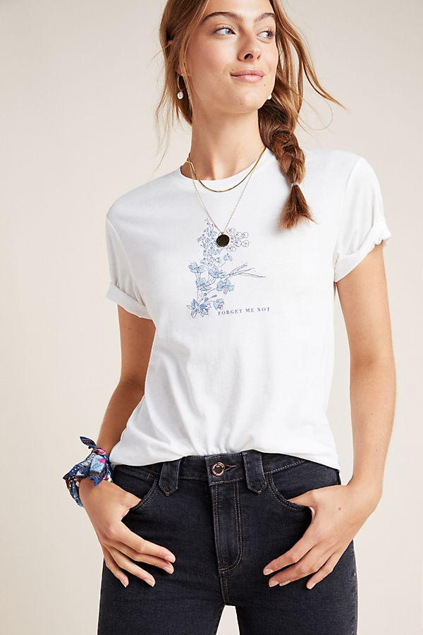 Slide View: 1: Forget-Me-Not Graphic Tee