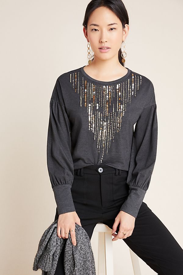 Slide View: 1: Chiara Sequined Top