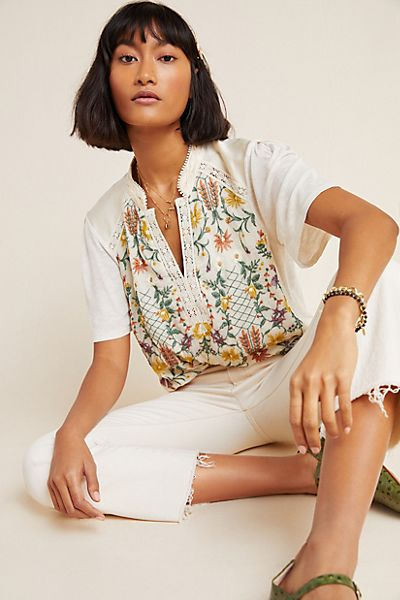 Eliana Floral Embroidered Top