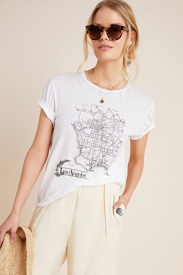 Slide View: 1: Los Angeles Map Graphic Tee