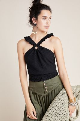 Marisol Ruffled Halter Blouse by Anthropologie