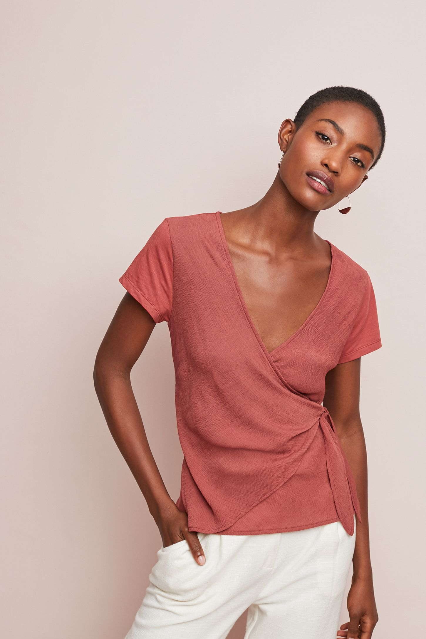 e5e2e5ef5cf43 Perouges Wrap Top | Anthropologie