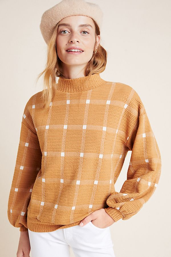 Slide View: 4: Bonnie Balloon-Sleeved Pullover