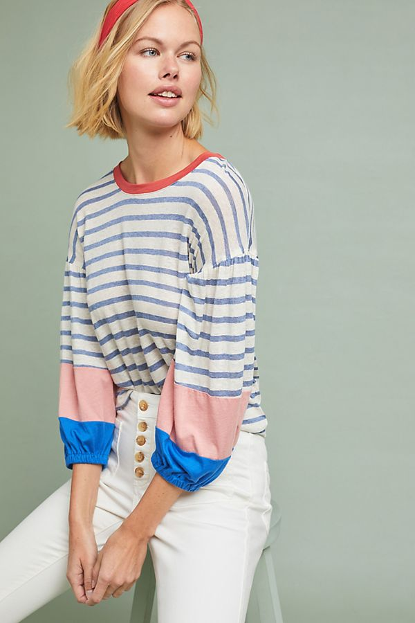 3e26a8e7e1fc Splendid Chambray Striped Tee | Anthropologie