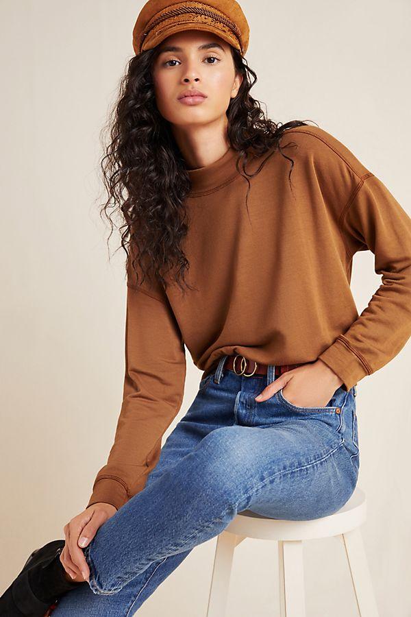 Slide View: 1: Presly Fleece Pullover