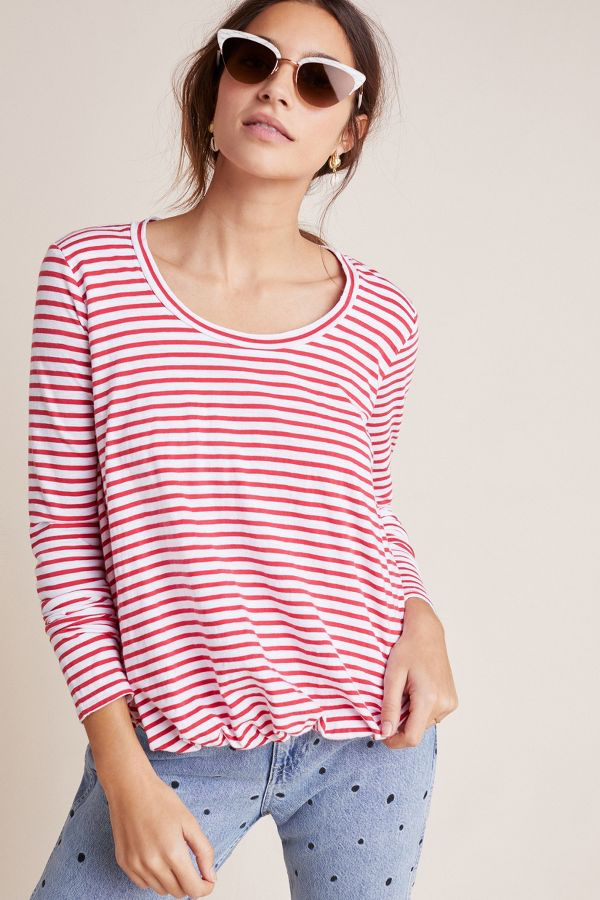 Slide View: 1: Stateside Augustine Striped Top