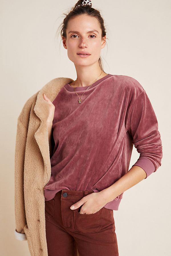 Slide View: 1: Blair Velvet Pullover
