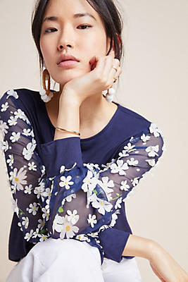 Slide View: 1: Becky Floral Top
