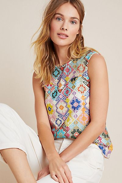 Sofie Embroidered Top