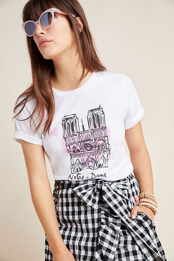 Slide View: 1: Notre-Dame x French Heritage Society Graphic Tee