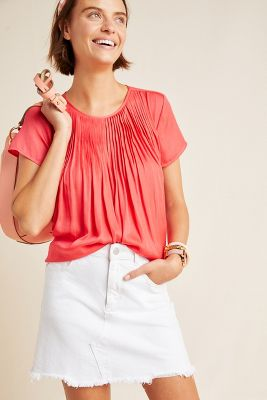 Pilar Pleated Top by Dolan Left Coast