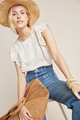 Raquela Ruffled Top by Dolan Left Coast