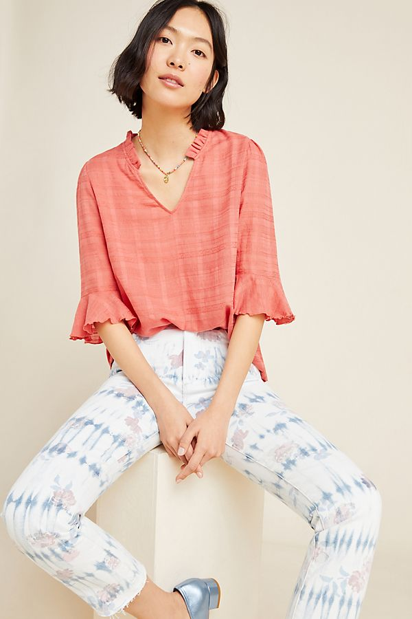 Slide View: 1: Tandy Ruffled Top