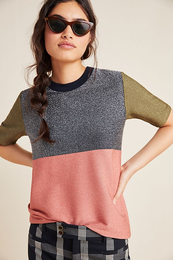 Scotch & Soda Shimmer Colorblocked Tee by Scotch & Soda