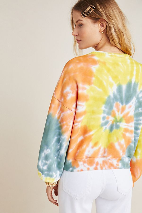 Slide View: 2: AGOLDE Richie Tie-Dyed Sweatshirt