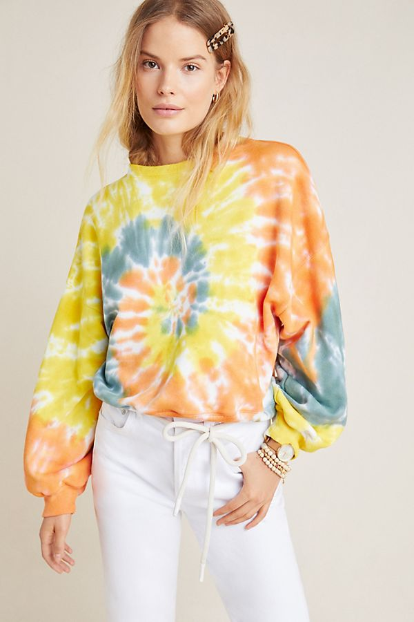 Slide View: 3: AGOLDE Richie Tie-Dyed Sweatshirt