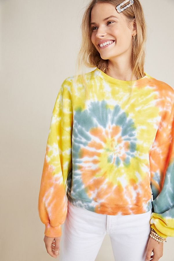 Slide View: 5: AGOLDE Richie Tie-Dyed Sweatshirt