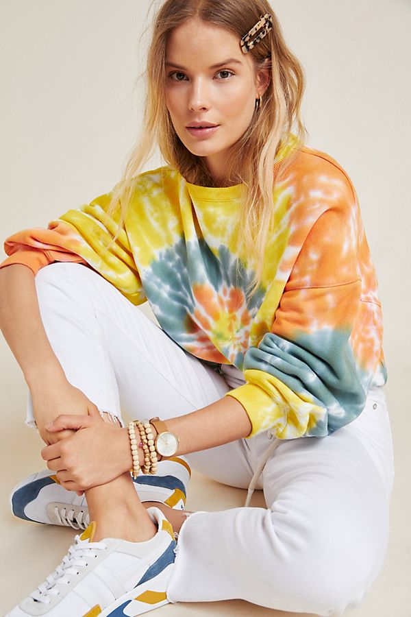 Slide View: 1: AGOLDE Richie Tie-Dyed Sweatshirt