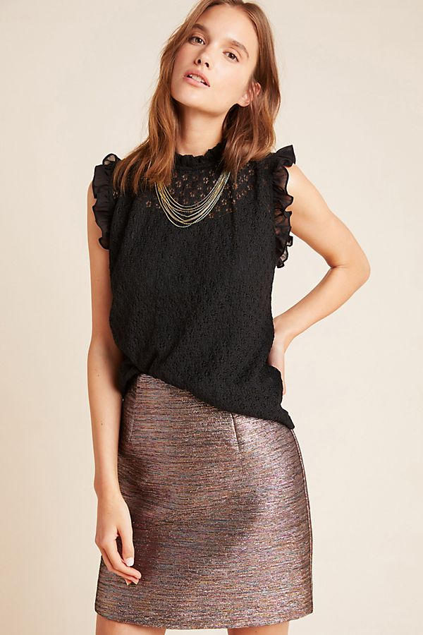 Slide View: 1: Nancy Embroidered Lace Top