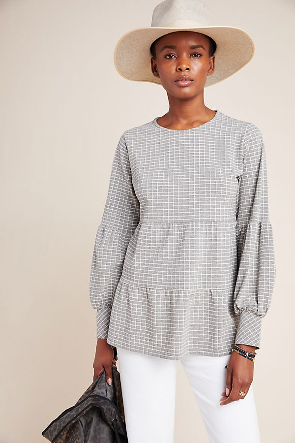 Slide View: 1: Norma Tiered Babydoll Top