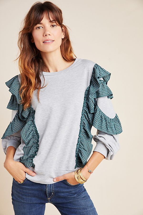 heather-ruffled-sweatshirt by nurode