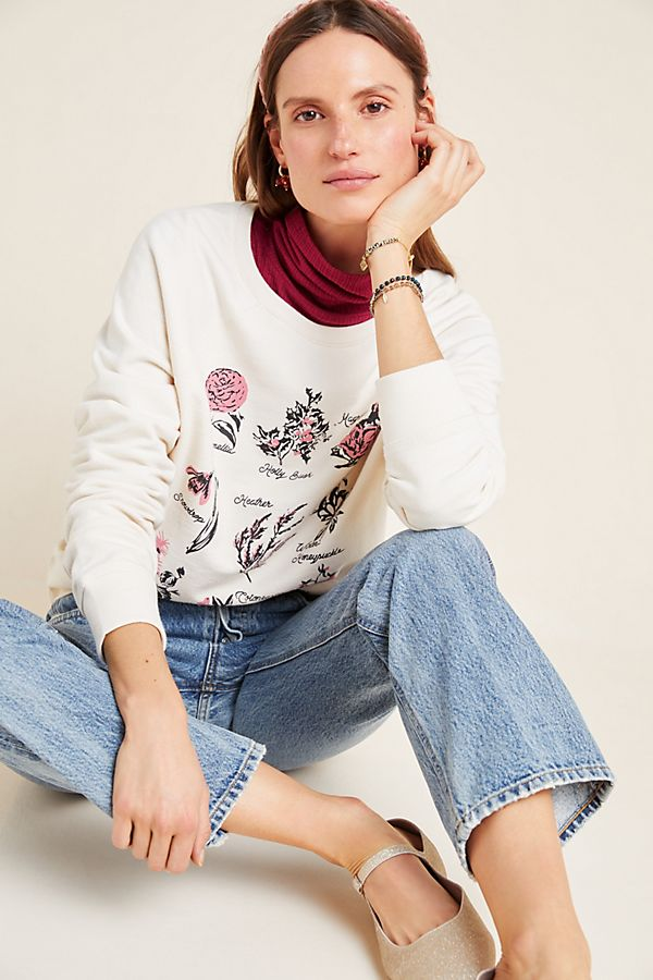 Slide View: 1: Back When Winter Blooms Graphic Sweatshirt