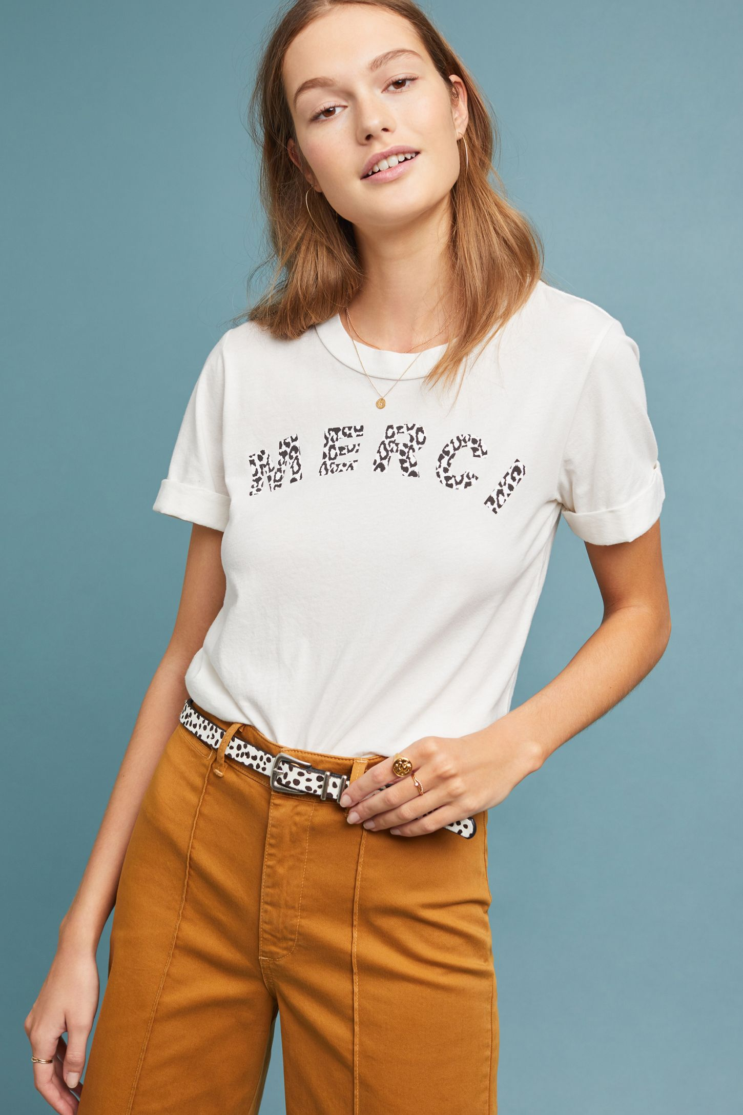 293e808a1 Sol Angeles Leopard Merci Graphic Tee | Anthropologie