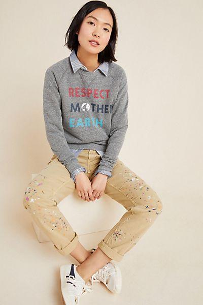 Respect Mother Earth Graphic Sweatshirt