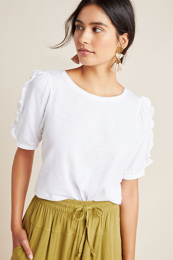 Slide View: 1: Clemence Ruffled Top