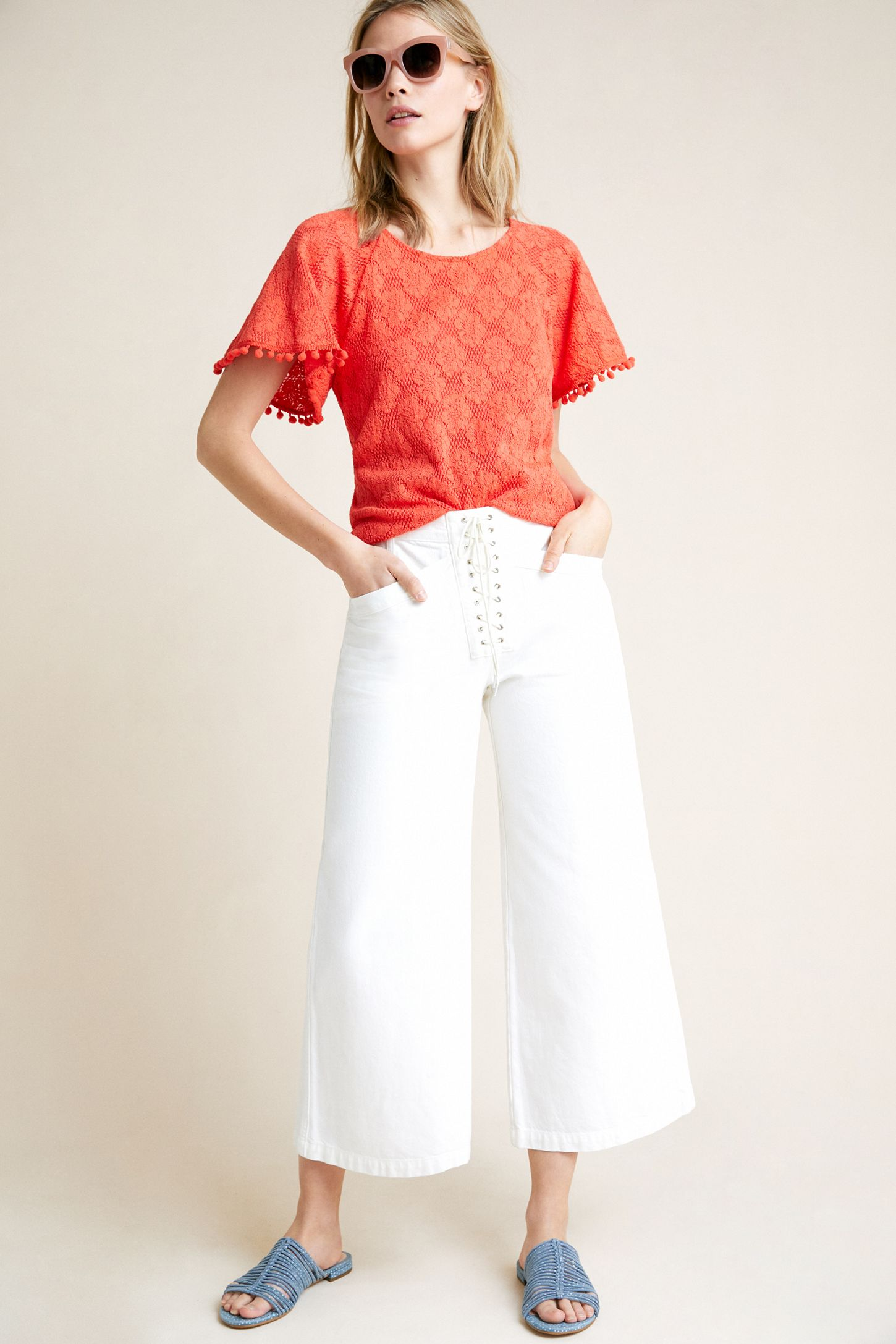 c48b775c6a2a89 Bianca Lace Top | Anthropologie
