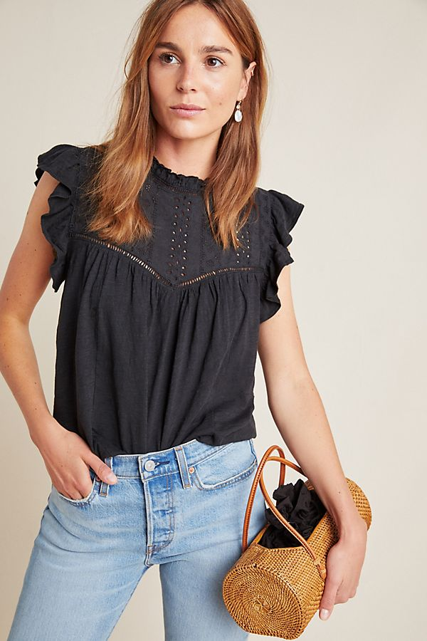 Slide View: 1: Andi Eyelet Top