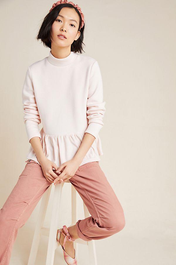 Slide View: 1: Beverly Peplum Sweatshirt