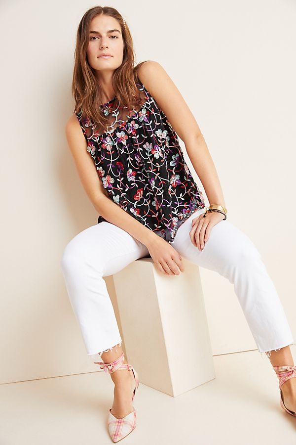Slide View: 1: Cherie Embroidered Top
