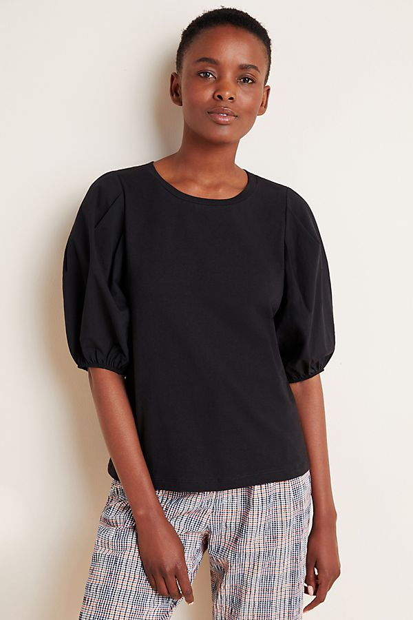 Slide View: 3: Lorette Puff-Sleeved Top